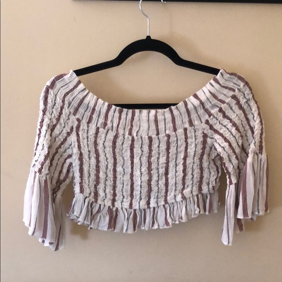 a95da98ba Free People Tops | Off The Shoulder Or Boat Neck Style Blouse | Poshmark